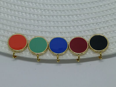 Ohrclips Ohrringe mit Emaille-Münze 16mm Gold Silber -viele Farben-