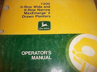 John Deere Operators Manual7200 6-row 8-row Narrow Maxemerge2 Drawn Planters