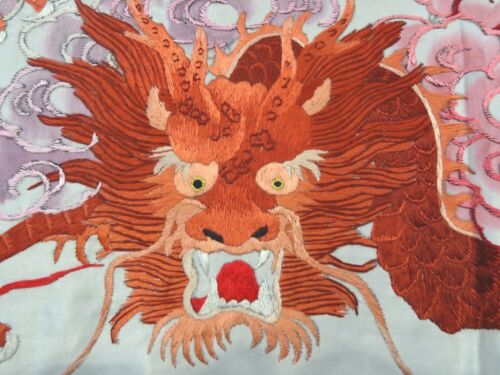 Handwoven Silk Chinese Embroidery - 9 dragons (200 cm x 91 cm) #1
