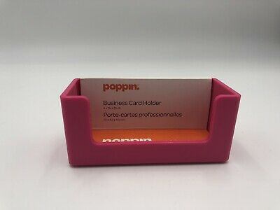 Poppin Business Card Holder Hot Pink New