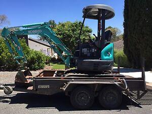 Kobelco excavator SK20SR 2008 & Trailer Campbell North Canberra Preview