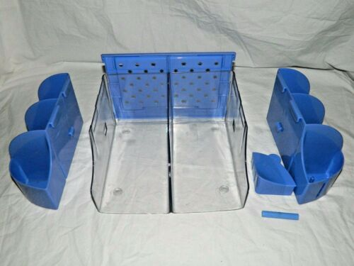 Munchkin Baby Infant Diaper Duty Organizer Changing Table Storage, Purple / Blue