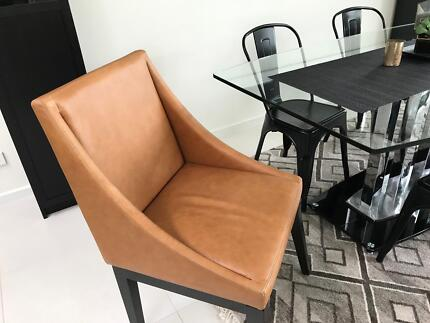 West Elm  Leather Dining or Arm Chair - Honey 100% Leathers