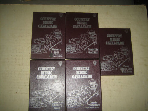 """10 RARE HTF VINTAGE COLLECTABLE 8 TRACK TAPES COUNTRY MUSIC  """" SOLD AS IS """""""