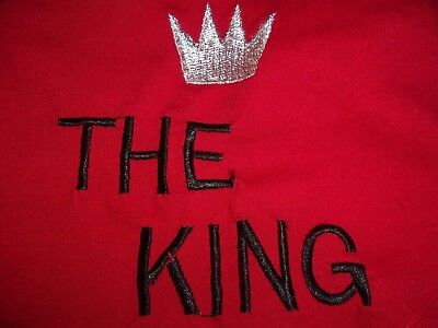 Red THE KING T Tee Shirt Puppy Dog New Pet XS XSmall Pamper Me puppy clothes