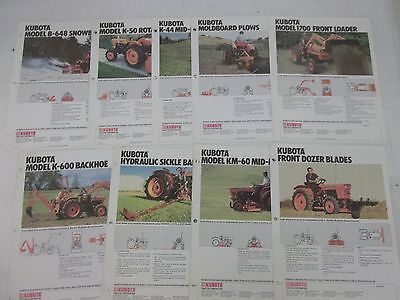Kubota Equipment Sales Brochures Mowers Snowblowers Backhoe Loader Tiller Plow