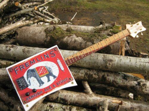 Handmade Cigar Box Style Guitar Fremlins Ales 4 String