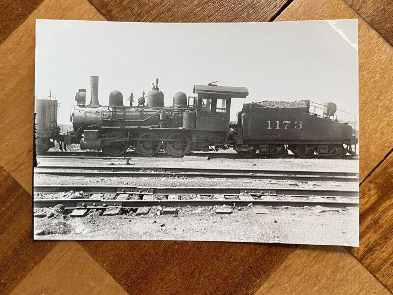 Chicago North Western Railroad Locomotive 1173 Vintage Photo C&NW