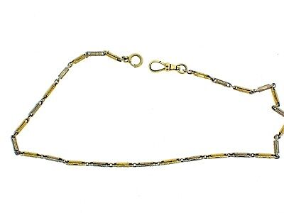 """Vintage SIMMONS Gold Filled POCKET WATCH CHAIN 14 1/2"""" long links good used"""