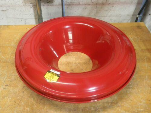 """Justrite Cease-Fire Red Steel Head for 55 Gal. Drum 24"""" Diameter 26355"""