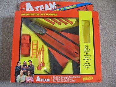 Vintage 1983 Galoob A Team A-Team Interceptor Jet Bomber Murdock Rare