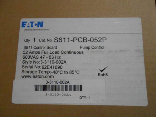 EATON S611-PCB-052P PUMP CONTROL S611 CONTROL BOARD 52AMPS