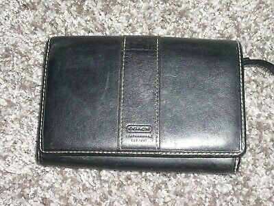 Coach Genuine Black Leather Bi Fold Wallet
