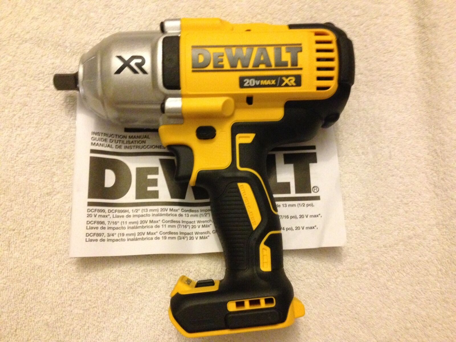 New dewalt dcf899b 1 2 20 volt 20v max xr brushless 3 for Dewalt 20v brushless motor