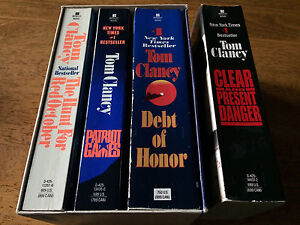 Tom Clancy. 4 softcover books