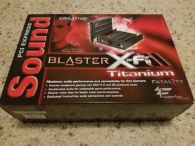 New Creative Sound Blaster X-Fi Titanium Fatal1ty Champion Audio Card SB0886