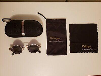 Dollger John Lennon Round Sunglasses Steampunk Metal Frame (Dollger Sunglasses)