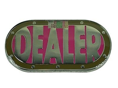 Pink Heavy Poker Table Shape Dealer Button Card Guard NEW