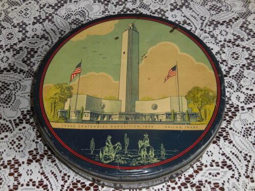 Original Tin -1936 TEXAS CENTENNIAL EXPOSITION Dallas Texas-Mr Sothern-New York