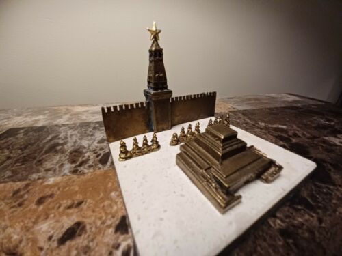 Rare bronze Lenins Mausoleaum at Red Square souvenir Building replica monument