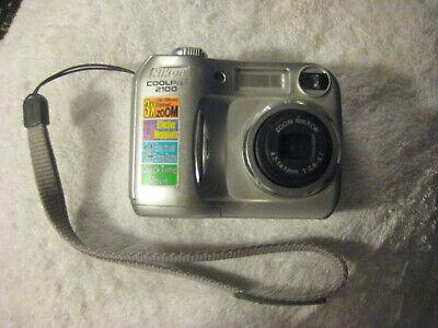 Nikon COOLPIX 2100 2.0MP Digital Camera - Silver Tested with memory card Nikon Digital Memory