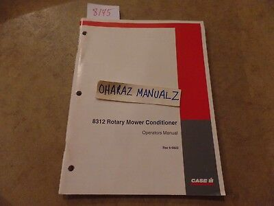 Case 8312 Rotary Mower Conditioner Operations Manual 6-6822