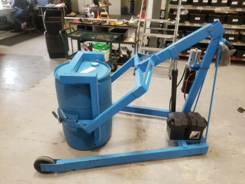 Drum lift tilt unloader hydraulic VIDEO