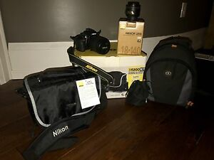 Nikon D5200 kit with two lenses & two bags