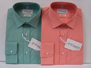 Uomo-Maglia-100-Cotone-Camicia-Formale-Lavoro-Camicie-Fatto-Su-Misura-Una-Tasca
