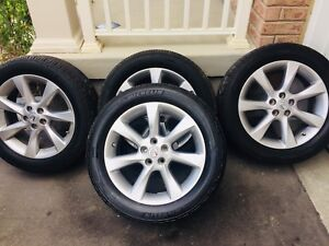 """19"""" Lexus RX350 Aluminum wheels and tires with TPMS"""
