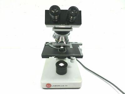 Leitz Laborlux 11 Inspection Binocoular Microscope W Four Objectives