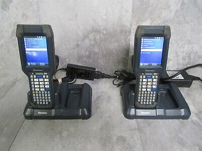 Lot Of 2 Intermec Ck3x Mobile Computer Scanner Windows Mobile 6 W Ad20 Charger