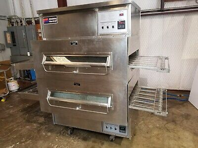 Middleby Marshall Ps360 Dbl. Stack Nat. Gas Conveyor Pizza Ovens...video Demo