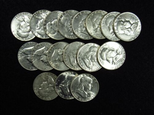 1955 Franklin Half Dollar AU/AU+ 90% SILVER COIN (1 COIN)