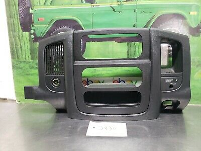 2002-2005 DODGE RAM 1500 2500 RADIO DASH TRIM BEZEL W/ VENTS SLATE BLACK CLEAN