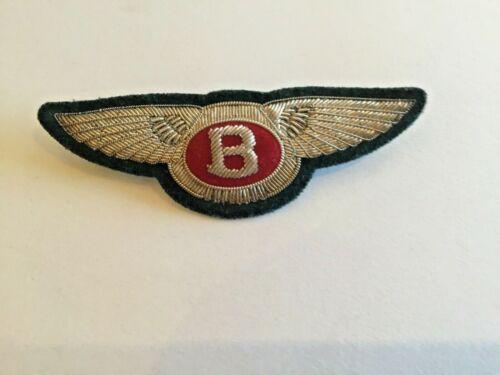 Silver Thread Embroidered BENTLEY Car Logo