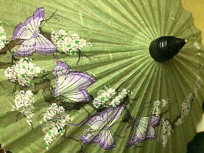 Asian Oriental Decorative Paper/ Wood Umbrella Parasol
