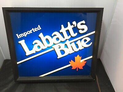 Vintage 1980's Labatt's Blue Bar Sign 14x16x 3.5