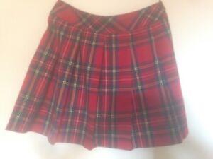 0183edcd4 Tartan mini skirt Dangerfield red pleated size 12/M