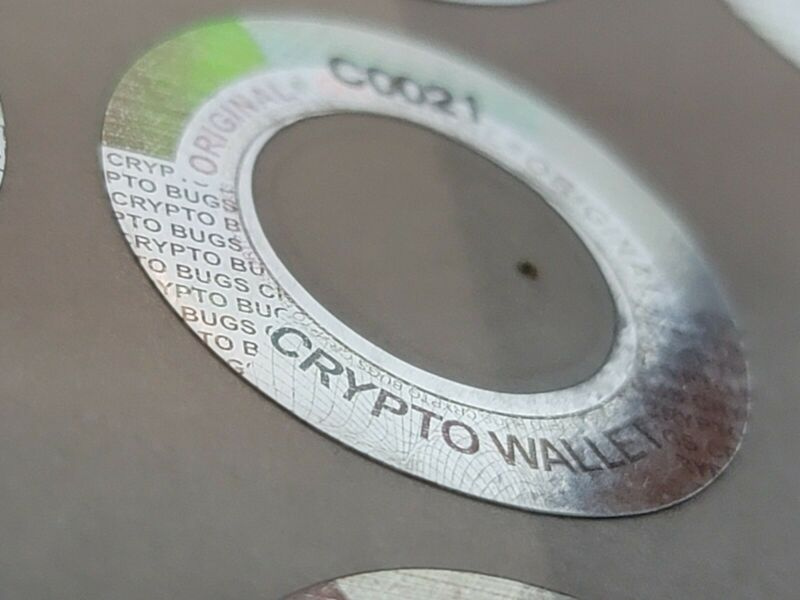 Cold Storage Crypto Wallet Hologram 18 Count. Bitcoin  Litecoin Ethereum XRP