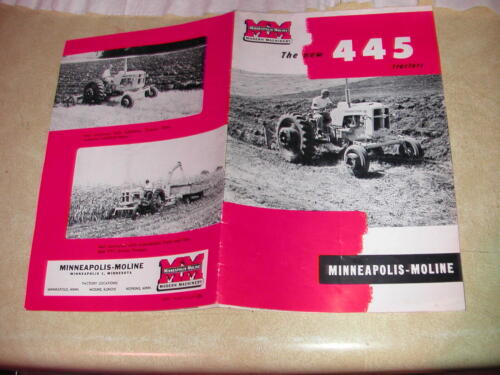 Minneapolis Moline 445 Tractor advertisement 11 pages