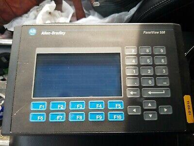 Allen Bradley Panelview 550 Hmi 2711-b5a8 Series F Dh Rs-232 100-240 Vac