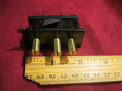 20a Male Union ConnectorPanel /  Chassis Mount 2P&G Stage Pin Connector
