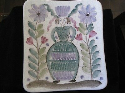 Arabia Finland Modern Pottery Wall Decor/Small Plate/Candy Dish Hand Painted
