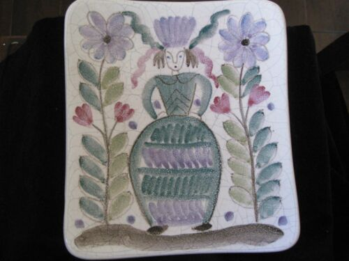 Arabia Finland Modern Pottery Wall Decoration Small Plate/Candy Hand Painted