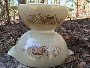 Pair of Pyrex Forest Fancies Cinderella Bowls