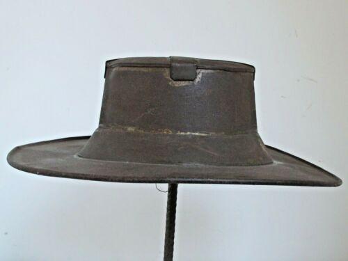 Antique Metal Hat Trade Sign American c. 1880