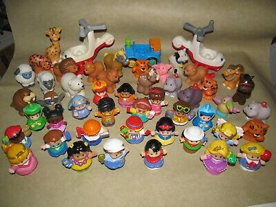 Huge Lot of 50 Fisher Price Little People, Animals, Vehicles