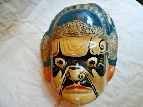 Antique Paper Mache Mask Chinese Opera Mask / Japanese Kabuki