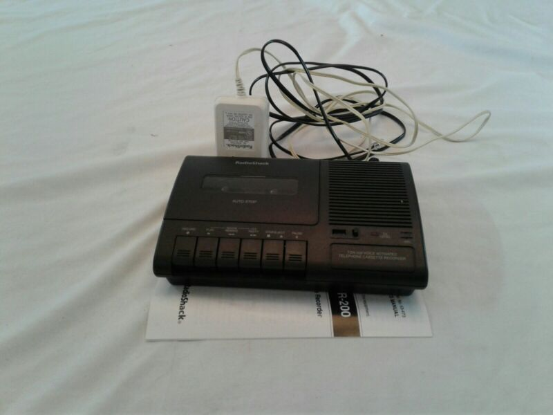 Radio Shack Telephone Voice-Activated Cassette Recorder TCR-200 Complete